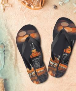 Jack Daniel's Flip Flops, beach sandals, pool slippers, shower shoes