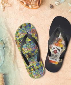 Jim Beam Flip Flops, beach sandals, pool slippers, shower shoes