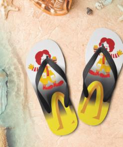 Mcdonald's Flip Flops,beach sandals, pool slippers, shower shoes