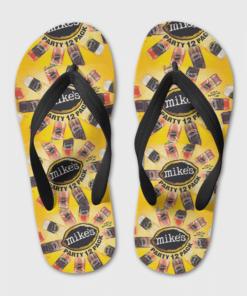 Mike's Hard Lemonade Flip Flops, beach sandals, pool slippers, shower shoes