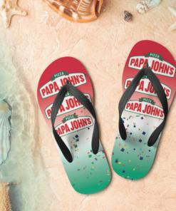 Papa John's Flip Flops,beach sandals, pool slippers, shower shoes