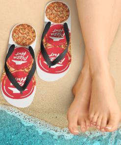Pizza Hut Flip Flops, beach sandals, pool slippers, shower shoes