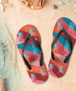Seagram's Escapes Flip Flops, beach sandals, pool slippers, shower shoes