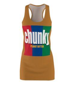 Chunky peanut butter Halloween Costume Dress Women's Cut And Sew Racerback