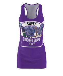 Concord Grape Jelly Halloween Costume Dress Women's Cut And Sew Racerback
