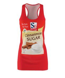 Cinnamon Sugar Spice Roasted Garlic Halloween Costumes Dress Women's Cut And Sew Racerback