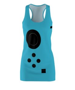 Blue Game Lovers Switch Halloween Costume Dress Women's Cut And Sew Racerback