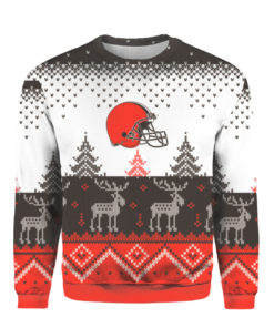 Cleveland Browns Big Logo 2021 Knit Ugly Pullover Christmas Sweater