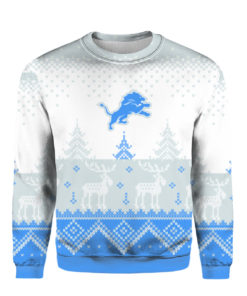 Detroit Lions Big Logo 2021 Knit Ugly Pullover Christmas Sweater