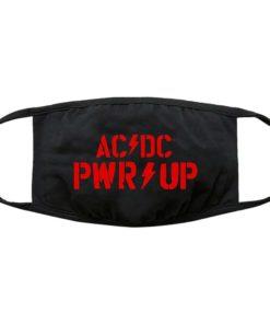 AC DC PWR UP Logo Face Mask