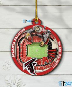 Atlanta Falcons NFL 3D Stadium Christmas Wood Ornament 1