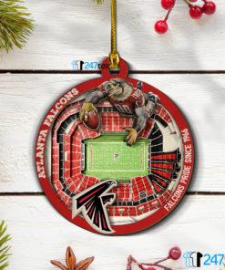 Atlanta Falcons NFL 3D Stadium Christmas Wood Ornament