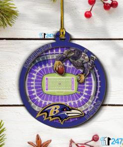 Baltimore Ravens 3D Stadium Christmas Wood Ornament