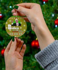 Biden the quicker fucker upper Ornament 1
