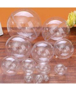 Christmas Clear Baubles Transparent Craft Fillable Ball Plastic Home Decor Wedding Garden Tree