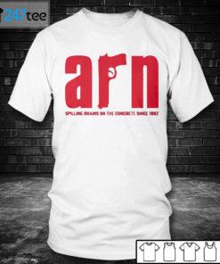 Men T shirt ARRN Spilling Brains on the concrete since 1982 Shirt