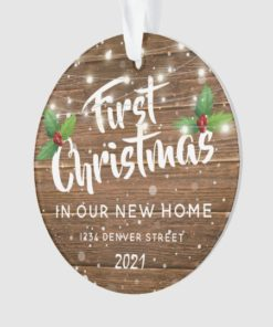 Personalized First Christmas New In Our New Home Ornament 1