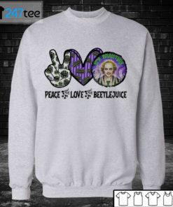 Unisex Sweatshirt Beetlejuice Its Show Time Peace Love Halloween Shirt