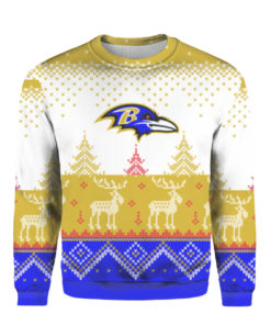 Baltimore Ravens Big Logo 2021 Knit Ugly Pullover Christmas Sweater